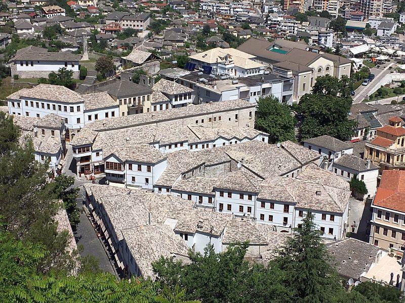 Blick in die Altstadt von Gjirokaster